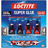 Loctite 2002988 Super Glue Control Gel and Ultra Liquid 4 g Bottles (Pack of 4), 4 Pack, 5 Fl Oz
