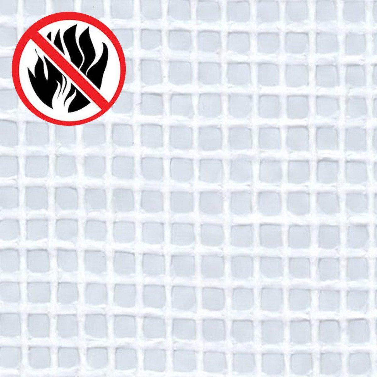 STI Telo Bianco occhiellato retinato antifuoco antistrappo polietilene Anti UV 2x6 mt