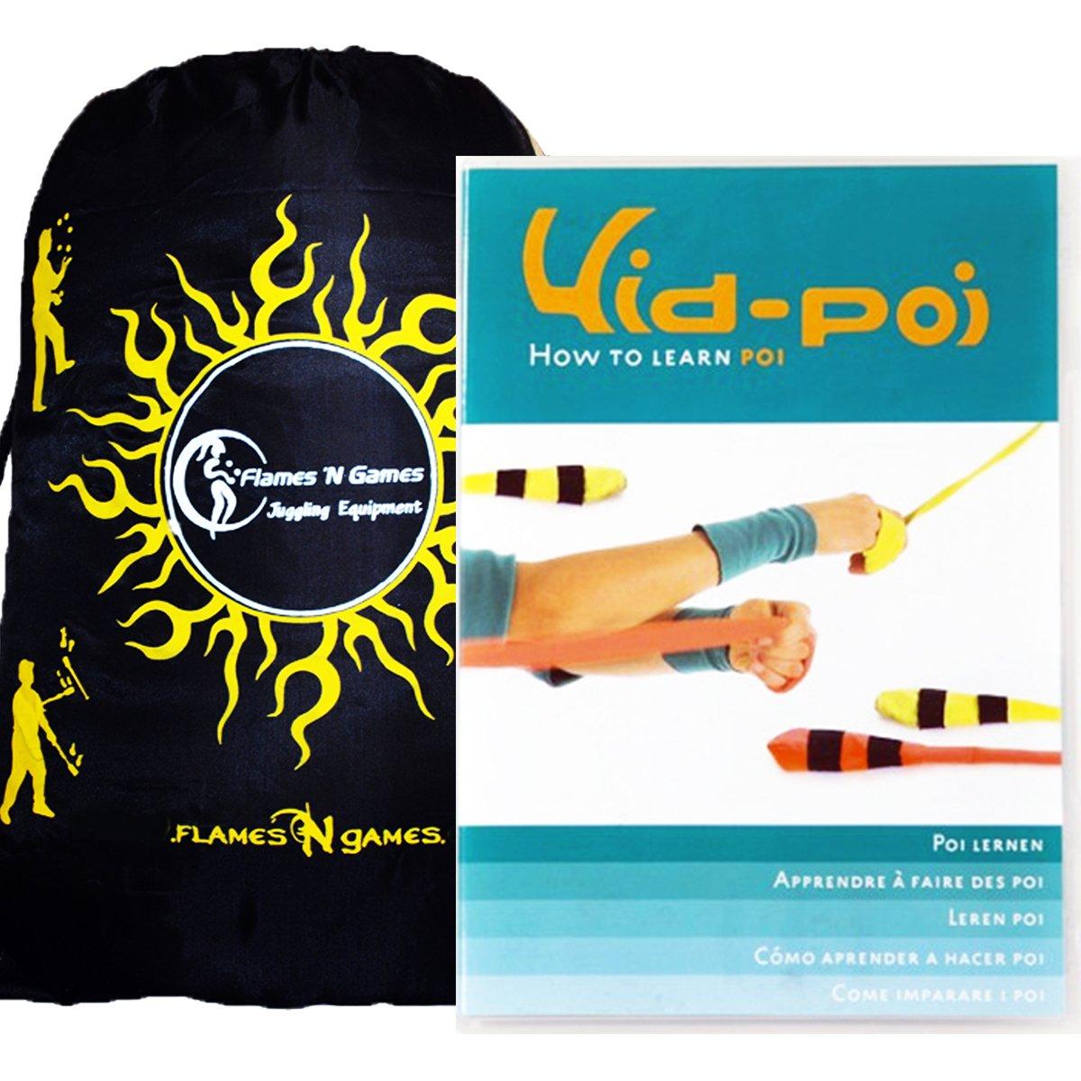 Kid Poi DVD - POI Spinning DVD + Bag! Inspirational Poi Spinning DVD For Beginners!