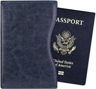 Fintie Porta Passaporto - Ultra Sottile Di Peso Leggero in pelle sintetica Custodia passaporto, sicurezza blocca RFID, Dark Brown APPA041EU