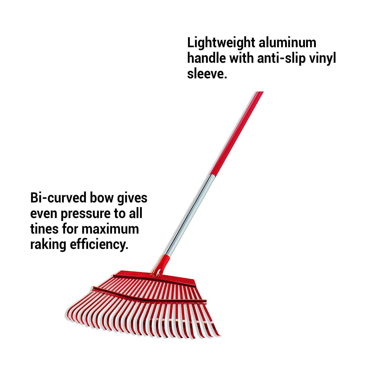 Corona RK 62000 Flexible Fixed Tine Shrub Rake, Wood Handle, 8-Inch Wide
