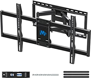 "Mounting Dream TV Wall Mount TV Bracket for 42-84 Inch TVs, Universal Full Motion TV Mount with Articulating Arms, Max VESA 800x400mm 132 lbs. Loading, Easy to Install on 16"", 18"", 24"" Studs MD2298-XL"