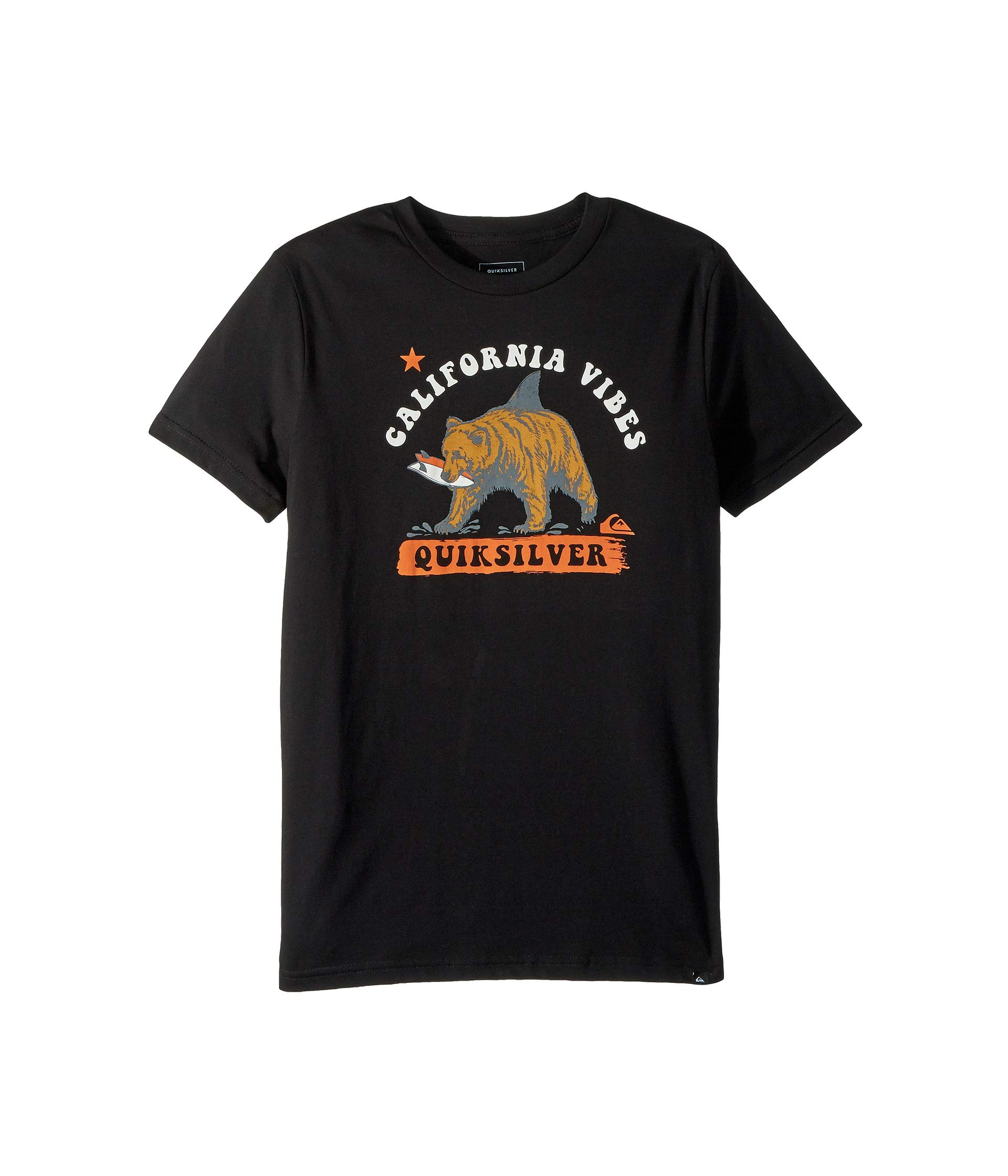 Quiksilver Boys' Big CALI Bear Shark Youth TEE Shirt, Black, XL/16
