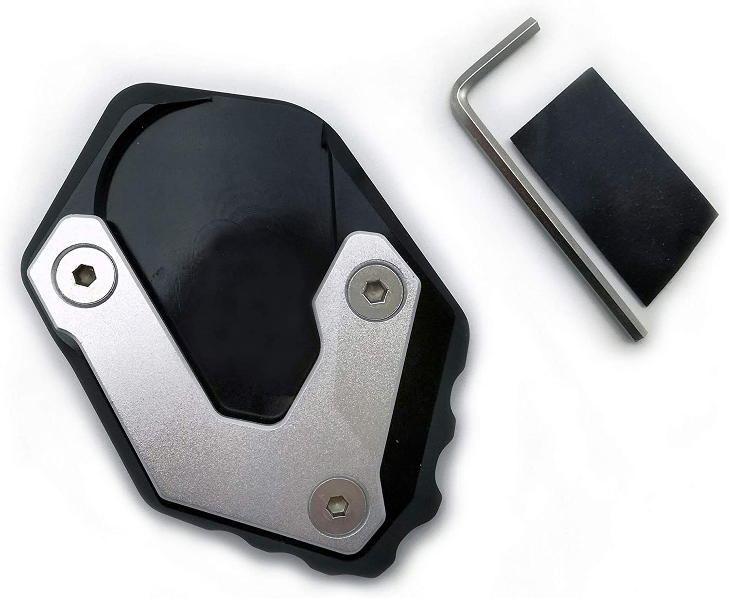 Motorcycle Side Stand Motorcycle Kickstand Foot Side Stand Extension Pad Support Plate for B/&M/&W R1250GS HP R 1250GS Adventure R1250 GSA 18-20 Kickstand Plate Color : Black