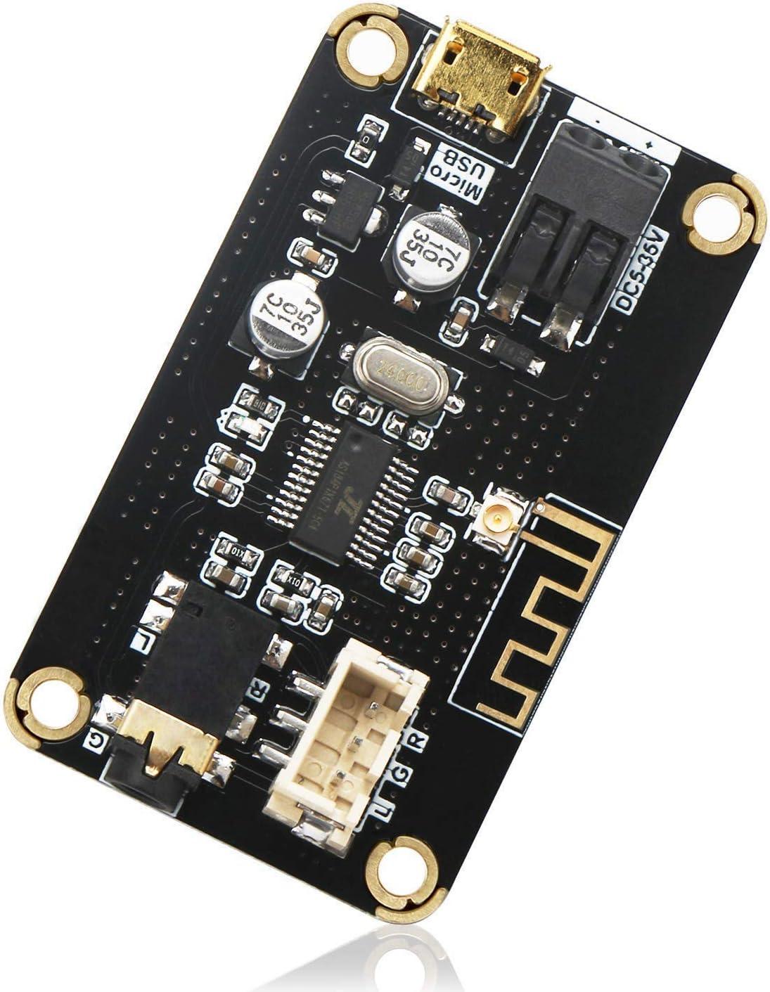 DollaTek Módulo de recepción Bluetooth, Tablero Receptor de Audio estéreo Bluetooth portátil AS1711BT DC 5-35V Electrónica inalámbrica Módulo Bluetooth Chip para Auriculares estéreo para el hogar DIY