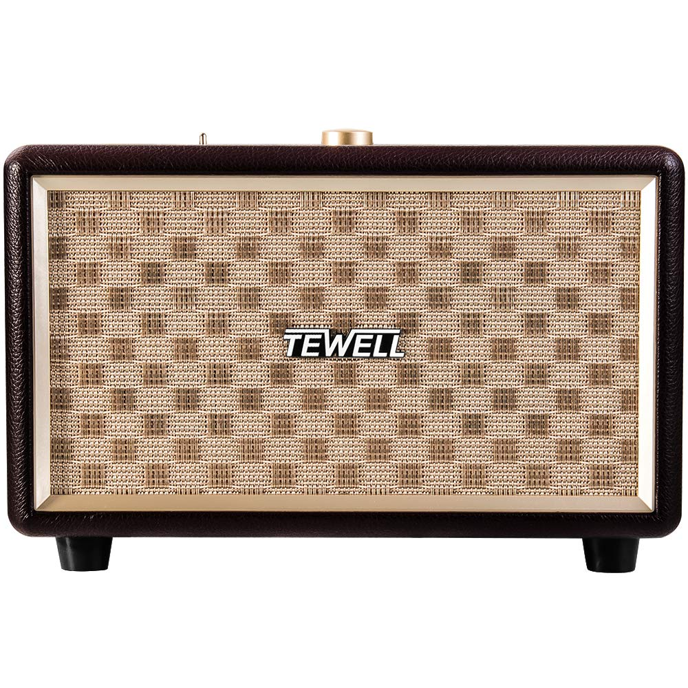 TEWELL Wood Bluetooth Speakers, Bass Enhanced Technology, Plug-in Speakers for PC, Laptop, Desktop, Tablet, Cellphone and Projector