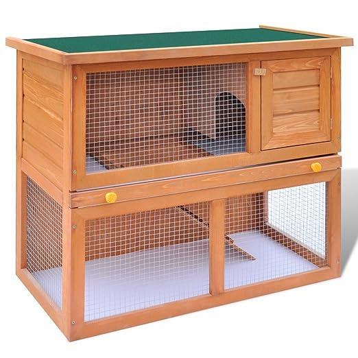 Jaula para Conejos y pequeños animales de cría de madera: Amazon ...