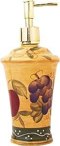 ACK SOAP Dispenser,Lotion JAR Tuscany Fruit Decor