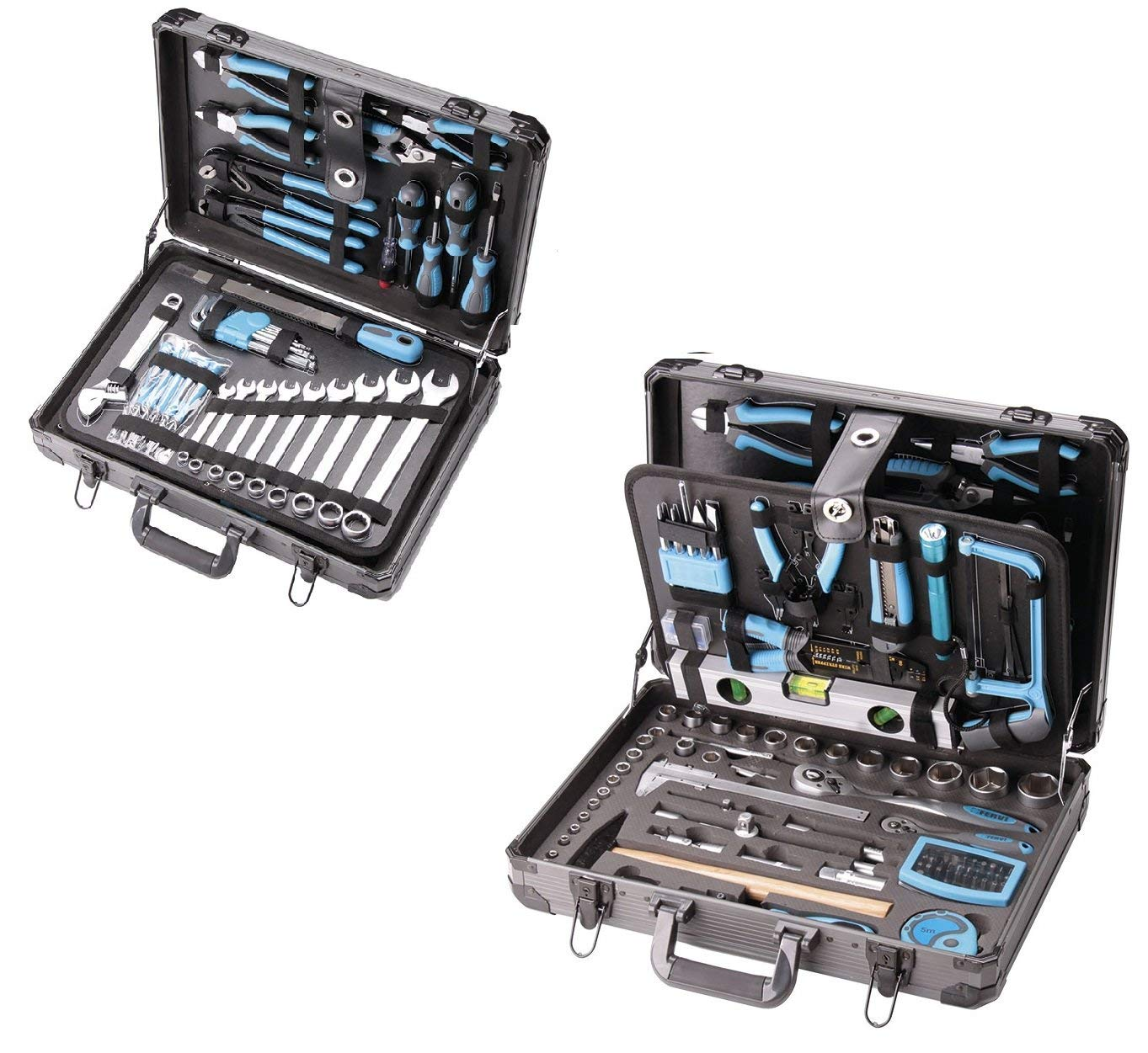 TOOL BOX CASE SET 162 PCS WITH ACCESSORIES TOOLS BAG WORKING FERVI 0105