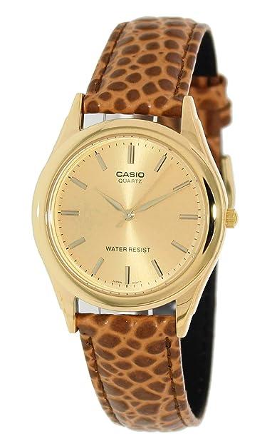 9caabd7be326 Casio   MTP1093Q-9 A Dorado para Hombre Correa de Piel Esfera Reloj  analógico  Amazon.es  Zapatos y complementos