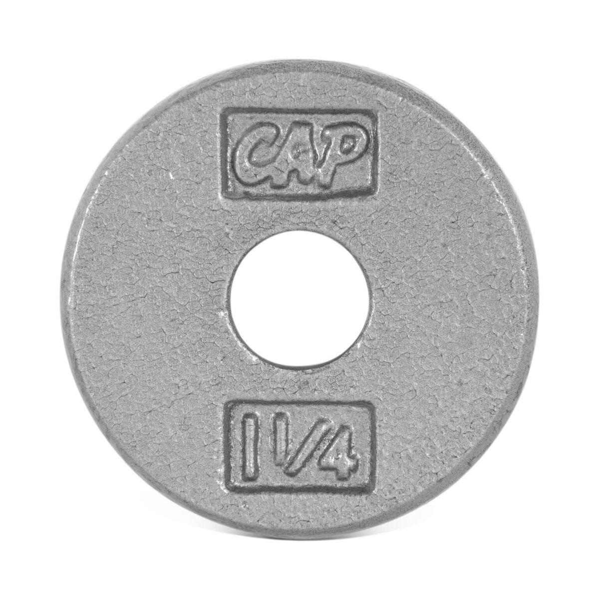 CAP Barbell Cast Iron Standard 1-Inch Weight Plates, Gray, Single, 1.25 Pound