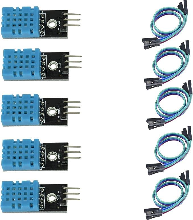 Amazon Com Hiletgo Dht11 Sensor De Temperatura Y Humedad