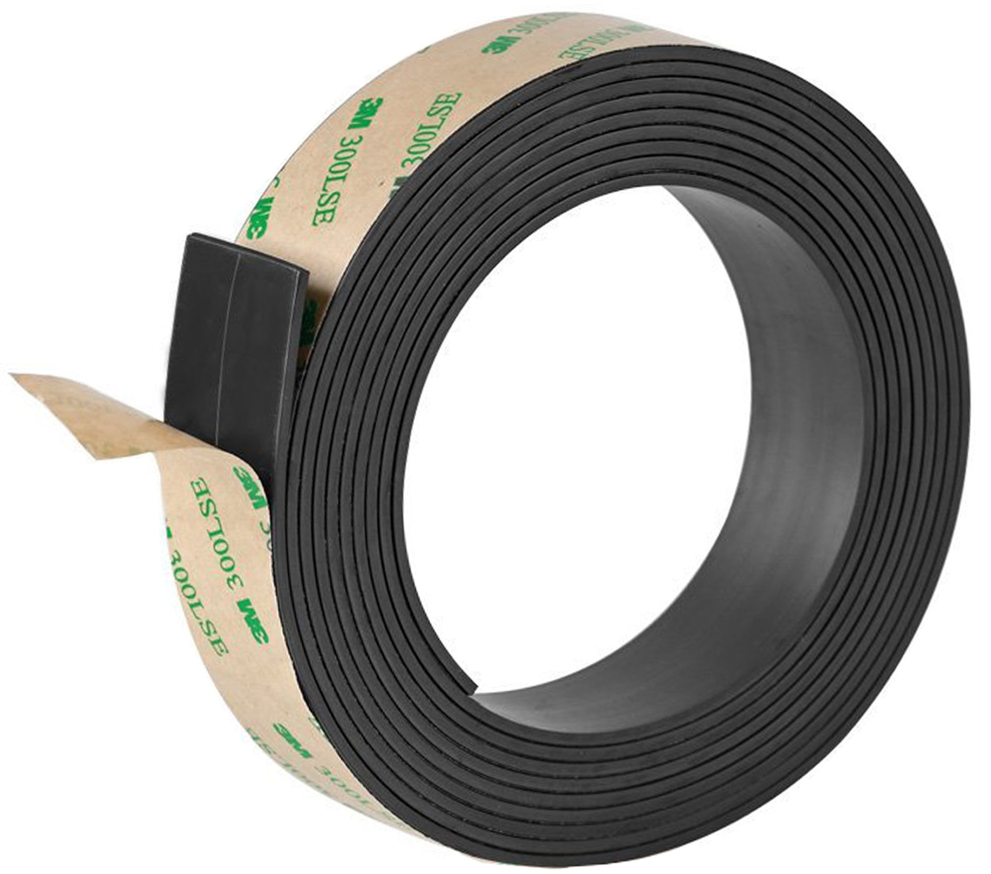 Ilyever 1 inch x 10 Feet Strong Magnetic Tape Anisotropic Magnet Strip with Premium Sticky Adhesive, 2mm Thickness Magnetic Roll Pefect for Fridge Craft & DIY Projects