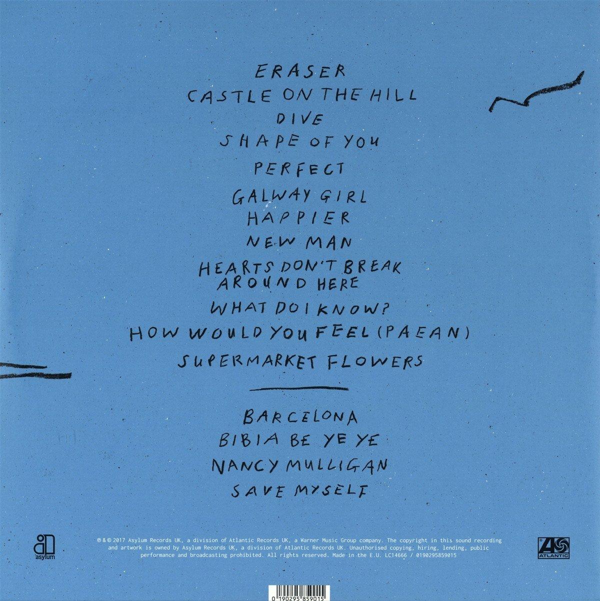 Ed Sheeran - Divide (2LP 45rpm 180-Gram Vinyl w/Digital Download ...