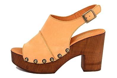 MARRADINI Damen - Sandale - Glattleder - 452_250_Nabuk_Orange