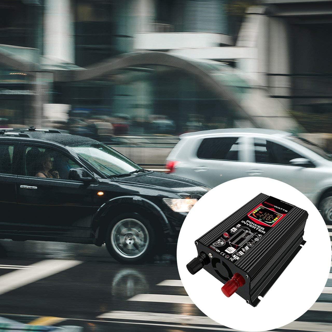 EmNarsissus Display a LED per Inverter di conversione per Auto Dual USB Nero 6000W 4000W 3000W Inverter 12V-220V Protezione Multipla