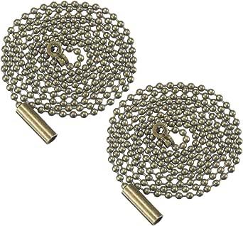 Mobestech - 2 cadenas de extensión de cadena de bronce con ...