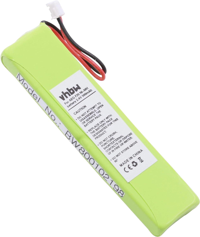vhbw batería 500mAh (2.4V) para teléfono Fijo inalámbrico Switel DF991, DF-991 y 2SN-3/5F60H-H-JZ1.