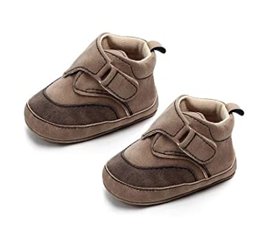 f980fce39f9 Kitty Baby Boy Suede Brown Leather Casual Boots Shoes 6-12 Months  Amazon.in   Shoes   Handbags