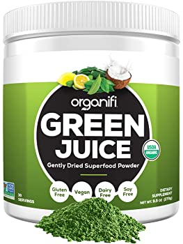 Organifi Green Juice Organic Superfood Supplement Powder Juice Cleanse