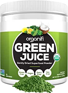 Organifi: Green Juice - Organic Superfood Supplement Powder - 30 Day Supply - Organic Vegan Greens - Hydrates and Revitalizes - Support Immunity, Relaxation and Sleep