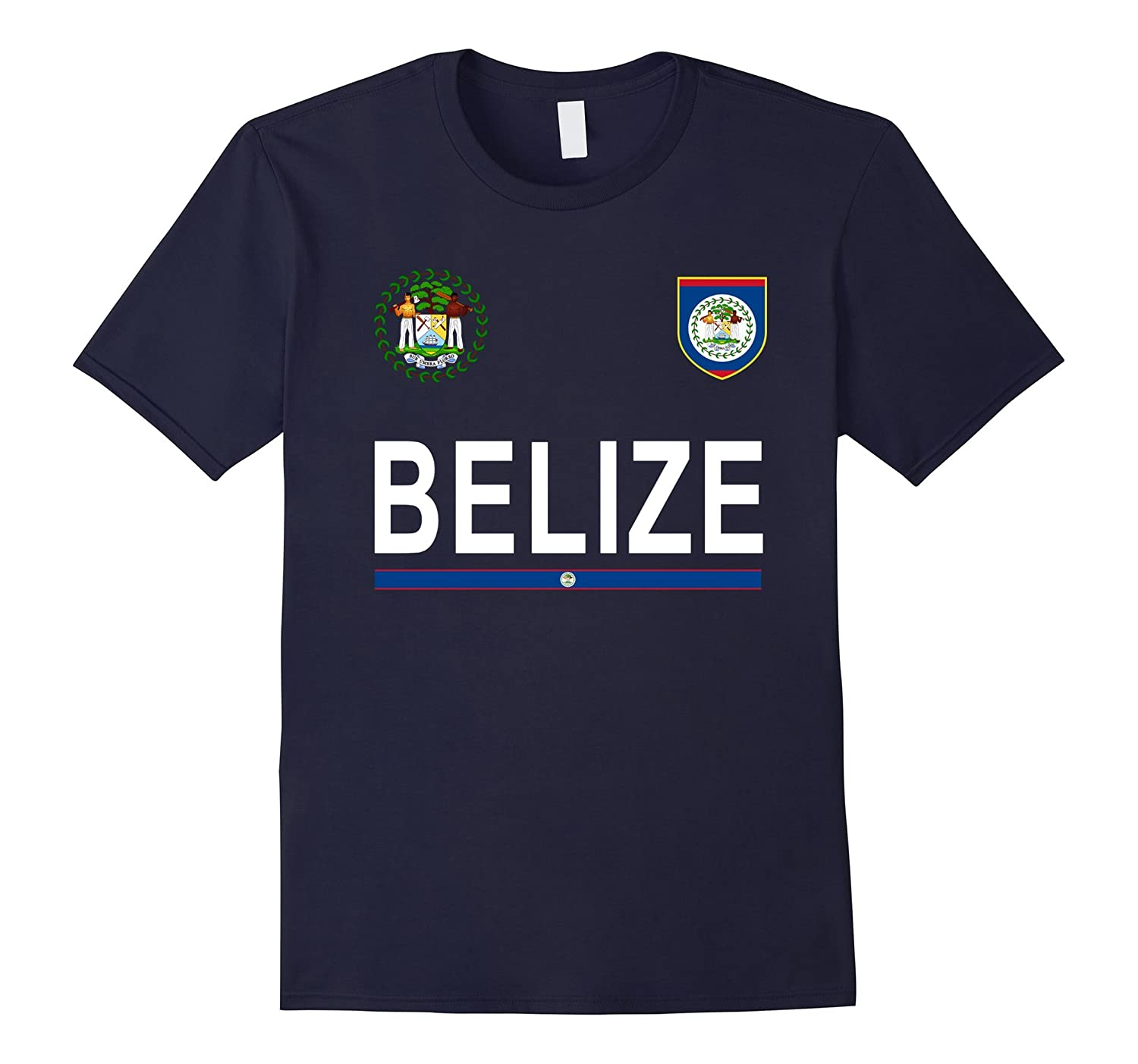 Belize Soccer T-Shirt - Belize Retro Football Jersey 2017-RT
