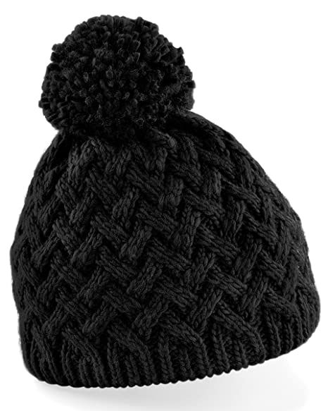 4869affb810 Amazon.com  Beechfield Vermont Ladies Womens Winter Beanie Hat (One ...