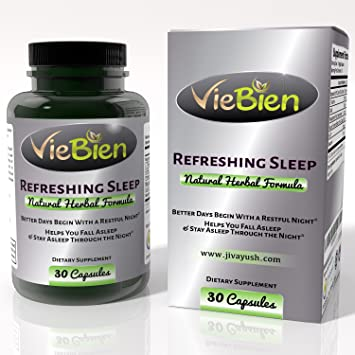 Natural Sleep Aid Pill Melatonin 3mg Formula- Viebien All Herbal Refreshing Sleep Promotes Natural Sleep