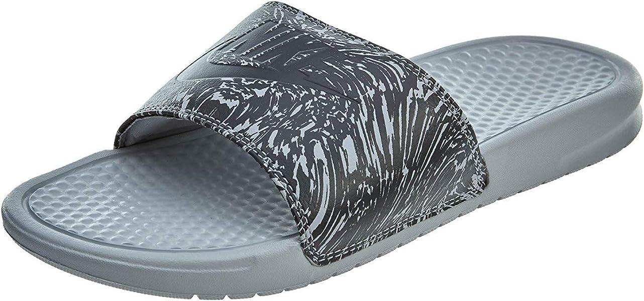21d9bdbc319e7f Nike Men s Benassi JDI Print Sandals-Wolf Grey Antracite-14