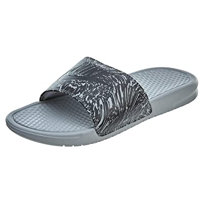 91a3f2eab84e Nike 631261-005  Benassi Mens Wolf Grey Anthracite Sandal (6 D(M