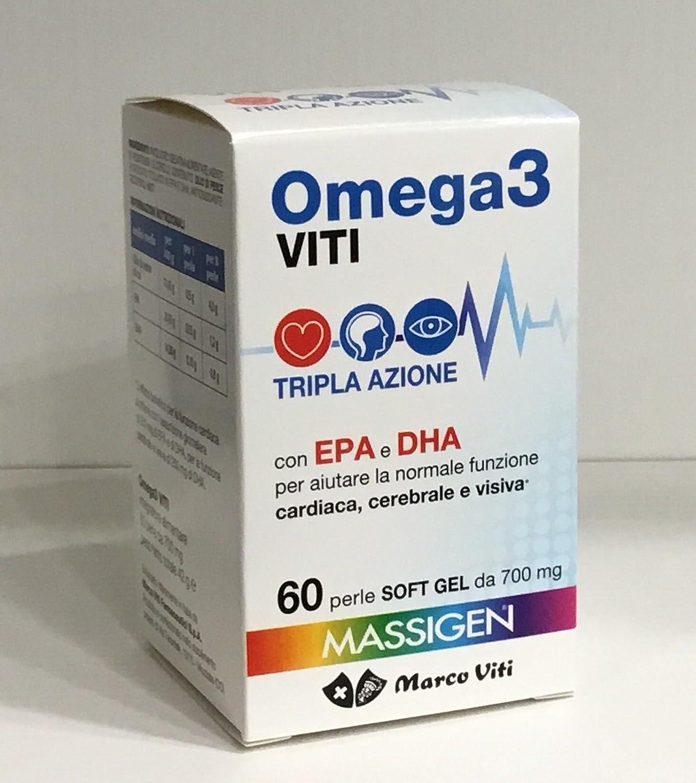 5 CONF. Massigen Omega 3 EPA y DHA 700 mg 300 perlas del MARCO VITI: Amazon.es: Salud y cuidado personal