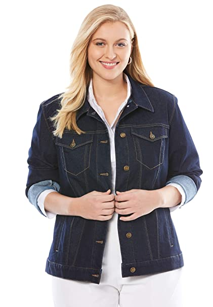 Amazon.com: Jessica London - Chaqueta vaquera para mujer ...