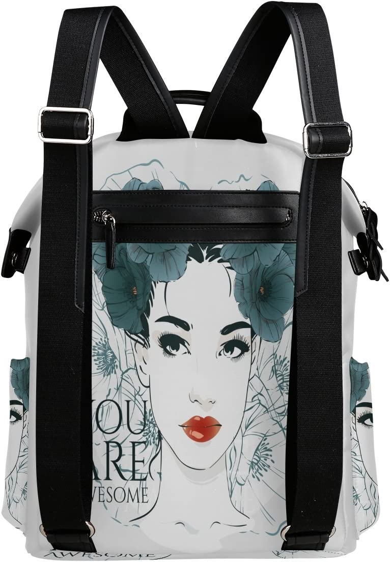 Laptop Backpack Lightweight Waterproof Travel Backpack Double Zipper Design with Fashionable Women You Are Awesome School Bag Laptop Bookbag Daypack for Women Kids