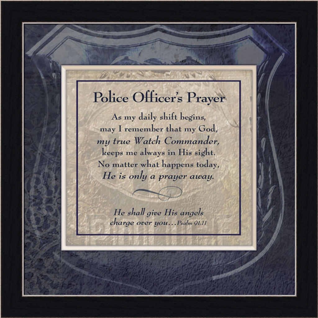 Amazon police officers prayer religious sign 15x15 framed amazon police officers prayer religious sign 15x15 framed art print picture by ctart posters prints jeuxipadfo Choice Image