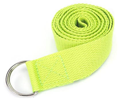 Amazon.com : Fitness Exercise Yoga Strap Adjustable D-Ring ...