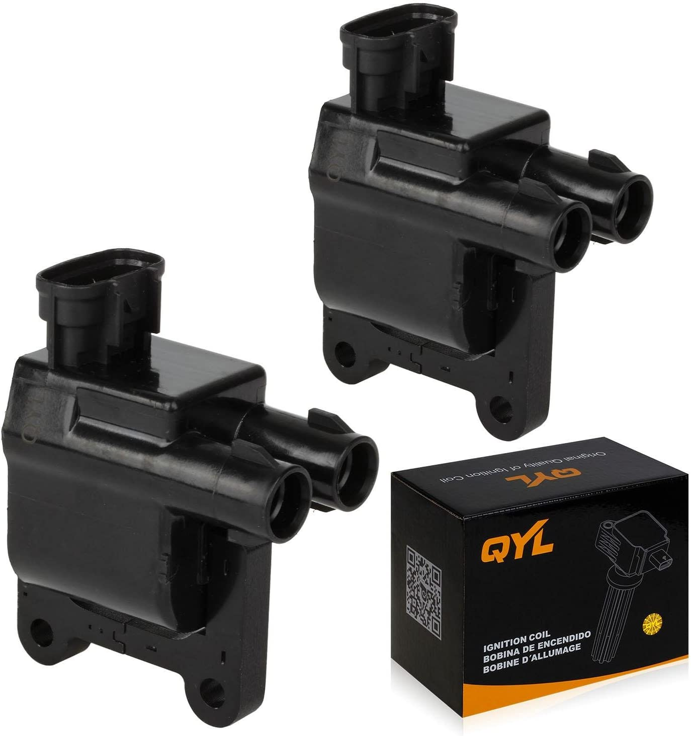 2Pcs Ignition Coil Pack UF181 UF180