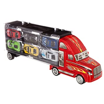 Transport 6 Camions Voitures De Et Courses RougeAmazon Betoys 1JcTFul3K