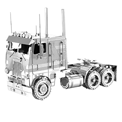 Fascinations Metal Earth Freightliner COE Truck 3D Metal Model Kit: Toys & Games
