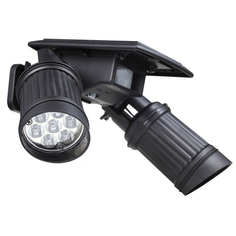 Yaojiaju Adjustable 14LED Solar Spotlight Wall Light PIR Motion Sensor Lamp Path Garden Yard Outdoor Waterproof Wall Light (Color : Cool White)