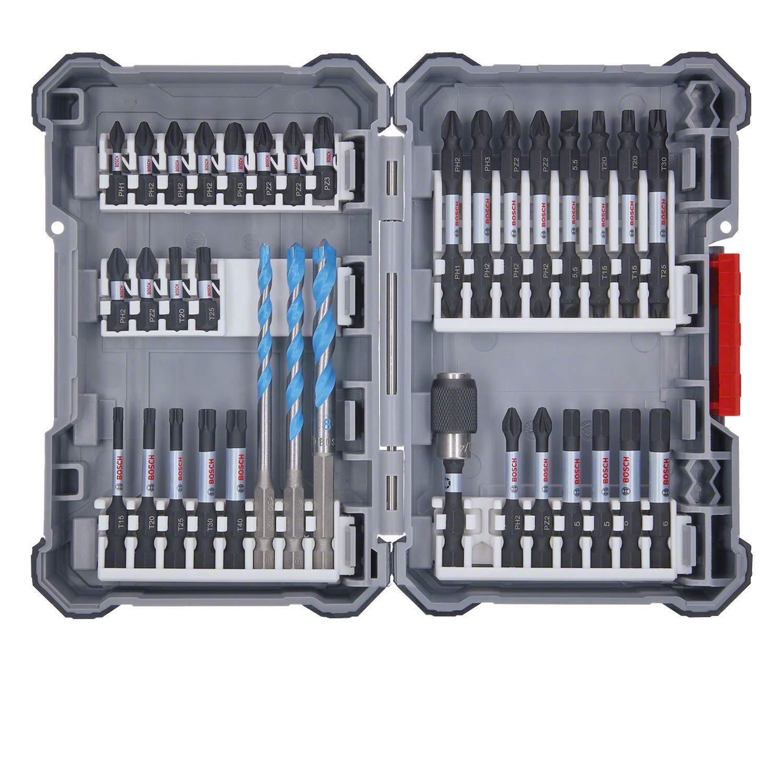 Bosch Professional 2607017463 Bosch Juego de accesorios para atornillador de impacto Pick & Click, 35 piezas (en maletín)
