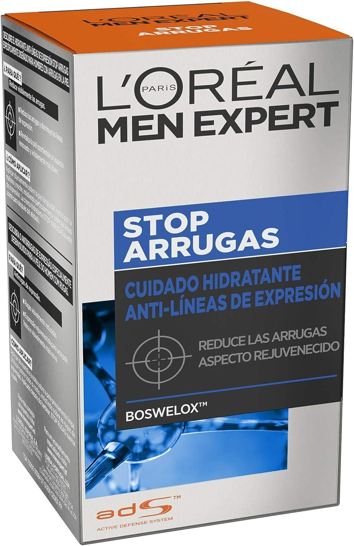 L'Oreal Paris Men Expert Cuidado hidratante anti-arrugas de expresión Stop Arrugas, 50 ml