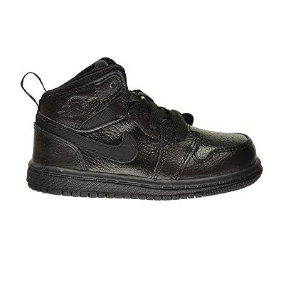 huge discount 02225 93b38 Air Jordan 1 Mid BT Baby Toddler Shoes Black Black-Black 640735-030