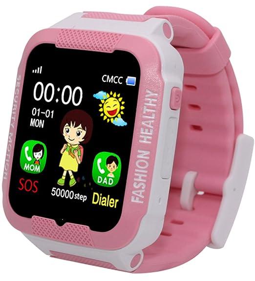 Reloj inteligente para niños con rastreador GPS y mando a distancia para niños y niñas: Amazon.es: Relojes