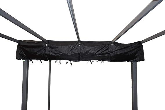 Jet-line - Lona protectora para pérgola (4 x 3 m), color negro: Amazon.es: Jardín