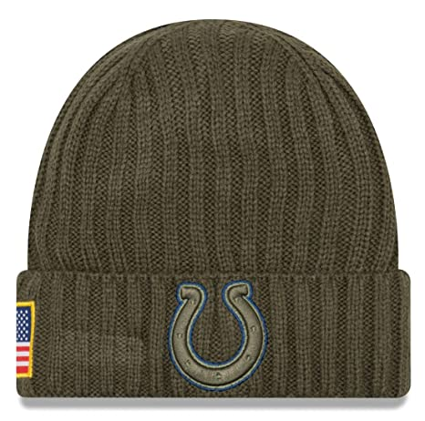 8bcf9c9e904 Image Unavailable. Image not available for. Color  Indianapolis Colts New  Era 2017 NFL Sideline  quot Salute to Service quot  Knit Hat