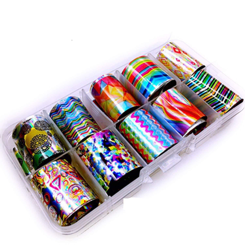Amazon com 31 types charm nail foils polish stickers metal color starry paper transfer foil wraps adhesive decals nail art decorationsmj50 beauty