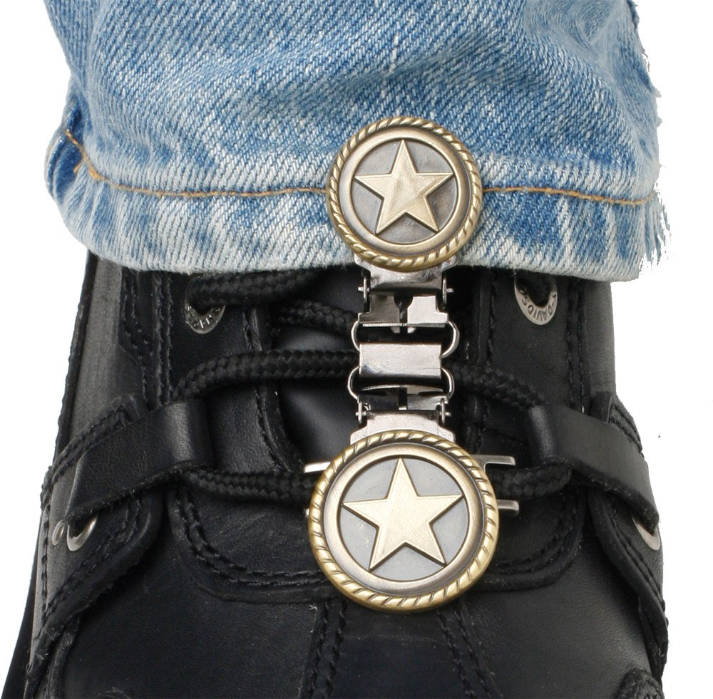 Ryder Clips Laced Boots Two Clip Version , Style: Western Star WSL-FC by Ryder Clips