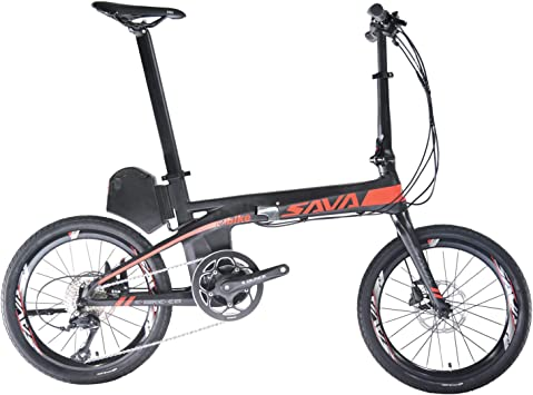 "Sava ROCKBROS Bicicleta Eléctrica Plegable E8 20"" de Fibra de ..."