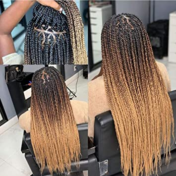 Refined Products 3Packs 24inch Ombre Box Braids Crochet Braids Braiding  Hair Weave 22Strands High Temperature Synthetic 3S Box Braids For African