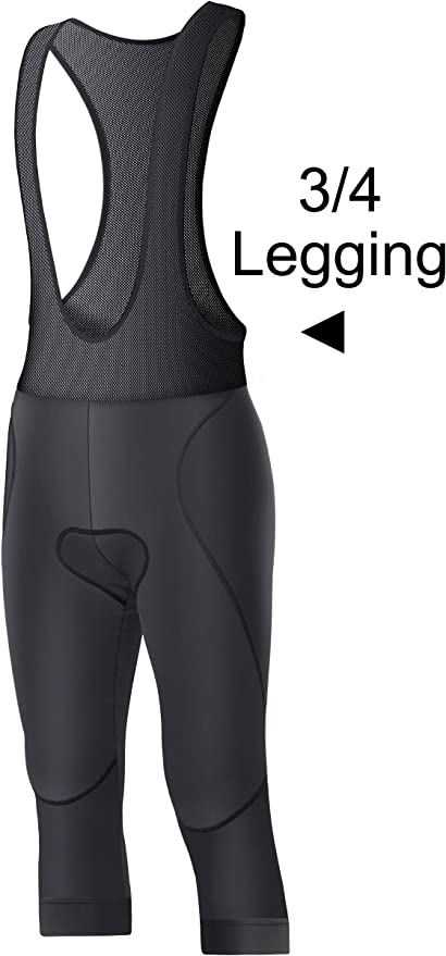BXIO Cycling Pantalones de 3//4 Pantalones Cortos de Bicicleta de Carretera Acolchados con Gel Babero de Bicicleta Pantalones de 3//4 Pantalones Cortos de Babero